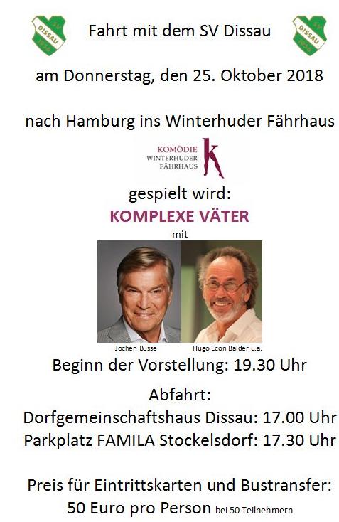 "Theater ""Komplexe Väter"" @ Winterhuder Fährhaus"